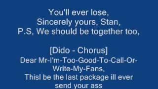 Eminem - Stan The Lyrics.wmv