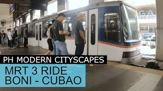 Boni to Cubao MRT 3 Ride Manila Philippines
