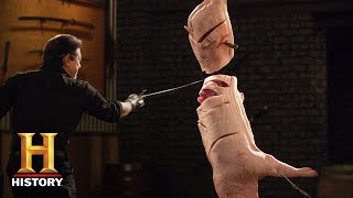 Forged in Fire: The Messer Sword SLICE AND DICE (Season 6) | History