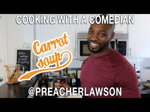 How To Make Vegan Carrot Soup - Cooking With A Comedian