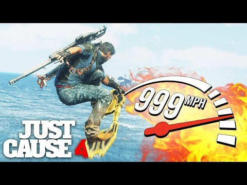 Just Cause 4 - INSANE HOVERBOARD SPEED MOD!