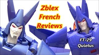 Fans Toys FT-29 QUIETUS Aka Masterpiece Cyclonus And Nightstick (Review In French)