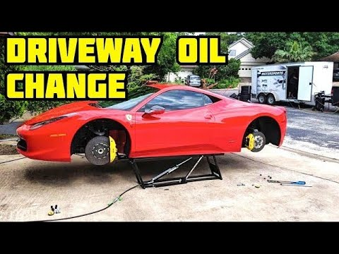 Ferrari Oil Change >> How To Change The Oil In A Ferrari 458 Normal Guy Supercar