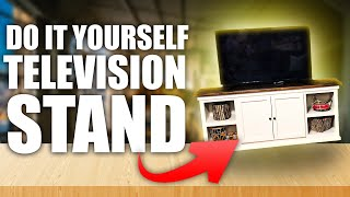 DIY TV Stand With Storage