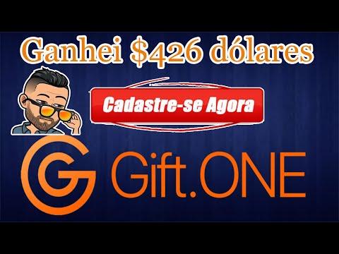 """Como ganhei """"$426 Dólares"""" no Airdrop Giftone. Ainda esta valendo, CORRE! $20 ao cadastrar."""
