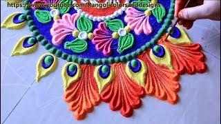 Easy and beautiful rangoli designs for sivrathri l muggulu kolam l कैसे रंगोली डिजाइन बनाने के लिए