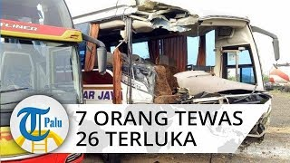 Kecelakaan Maut di Tol Cipali 7 Orang Tewas dan 26 Terluka