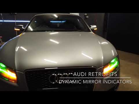 Audi Q5 Folding Mirrors And Puddle Lights Retrofit - смотреть онлайн