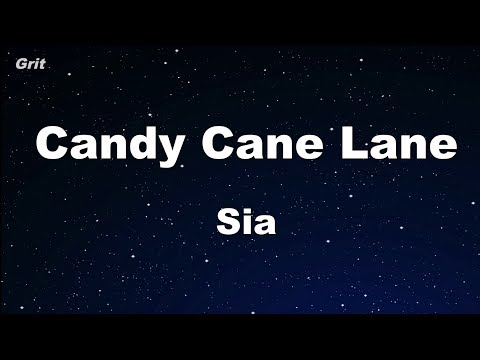 Candy Cane Lane - Sia Karaoke 【No Guide Melody】 Instrumental