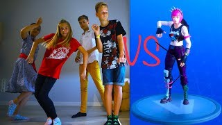 FORTNITE DANCE CHALLENGE!  In Real Life Кто КРУЧЕ ТАНЦУЕТ