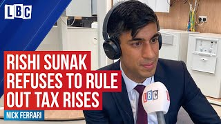 Rishi Sunak refuses to rule out tax rises to pay for coronavirus spending   LBC
