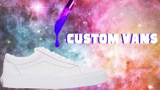 Custom Painted Galaxy Vans