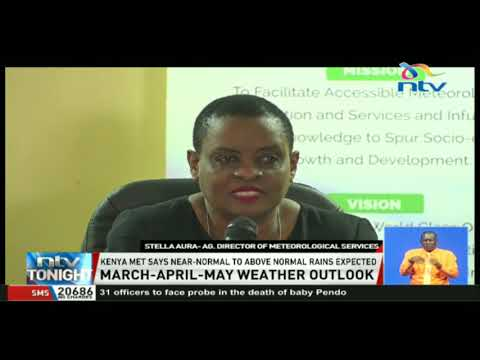 Kenya Meteorological Department says near-normal to above normal rains expected
