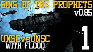 Sins of the Prophets: UNSC vs UNSC with Flood (v0.85) Part 1