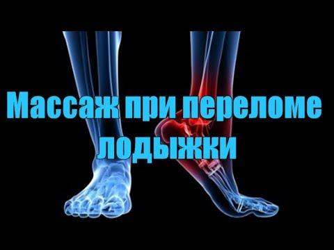 Массаж при переломе лодыжки. Массажист Андрей Илюшкин.