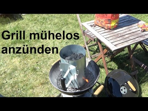 Grill mühelos anzünden mit dem Grillkamin Grill anmachen Weber Anzündkamin
