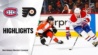 Extended highlights of the Montreal Canadiens at the Philadelphia Flyers
