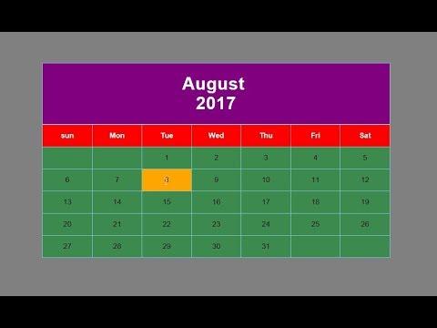 mp4 Coding Html Kalender, download Coding Html Kalender video klip Coding Html Kalender