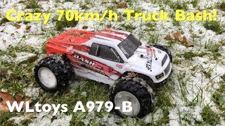 WLtoys A979-B Crazy 70km/h Monster Truck Bash And Snow Run