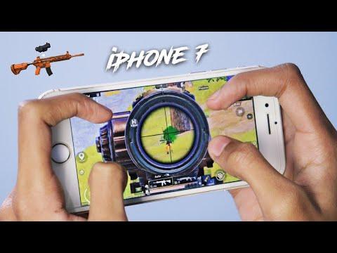 iPhone 7 PUBG MOBILE   4 Finger + Full GYRO   SOLO VS SQUAD   HANDCAM   HOT DROP PUBG MOBILE