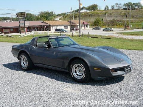 1981 Charcoal Corvette Charcoal Int T Top Video