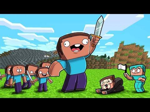 Minecraft - NOOB ARMY DEFEATS THE HACKERS BASE!