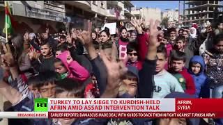 Pro-govt Syrian fighters begin entering Kurdish Afrin despite Turkish threats – reports