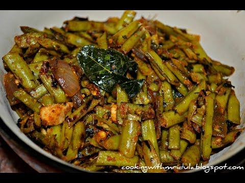 Cluster Beans Masala Fry - Goruchikkudu Nuvvula Podi Vepudu w/ English Subtitles