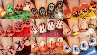 EASY HALLOWEEN DIY NAIL ART COMPILATION (9 DESIGNS) || KELLI MARISSA