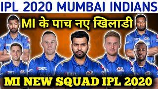 IPL 2020 MI TEAM NEW SQUAD    MUMBAI INDIANS IPL 2020
