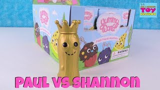 Paul vs Shannon Yummy World Fresh Friends Keychains Challenge Toy Review | PSToyReviews