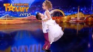 Милый детский бальный танец - Саша Дырин и Вика Балджы. Украина мае талант дети 12.03.16