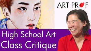 High School Art Class Critique by RISD Art Professor
