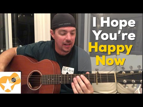 I Hope You're Happy Now | Carly Pearce / Lee Brice | Beginner Guitar Lesson