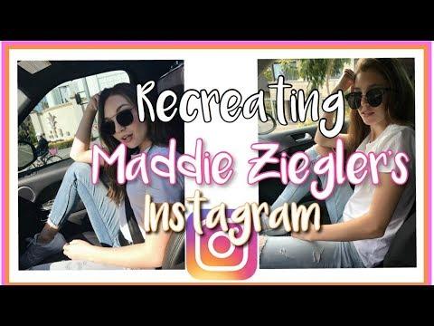Recreating MADDIE ZIEGLER's INSTAGRAM Pictures