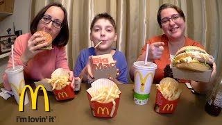 Trying McDonald's Big Mac For The First Time | Gay Family Mukbang (먹방) - Eating Show