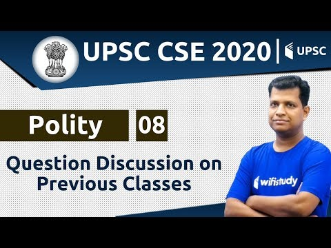 4:00 PM - UPSC CSE 2020 | Polity by Pawan Sir | Question Discussion on Previous Classes