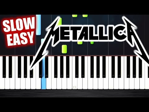 Metallica - Nothing Else Matters - SLOW EASY Piano Tutorial by PlutaX