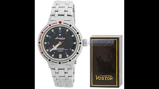 Видео обзор мужских механических часов с автоподзаводом ВОСТОК 2416 (420268)