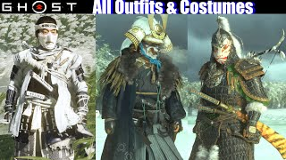 Ghost Of Tsushima - All Outfits & Costumes (Masks / Hats / Weapons)