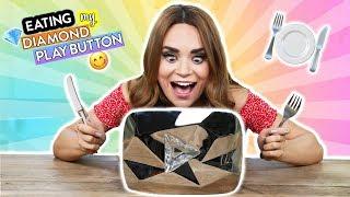 EATING MY DIAMOND PLAY BUTTON!!