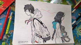 How I Drawing Manga Girl Meet Boy