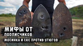 Мосинка и СКС против советских утюгов