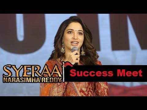 Tamannah at Syeraa Narasimhareddy Movie Success Meet Event