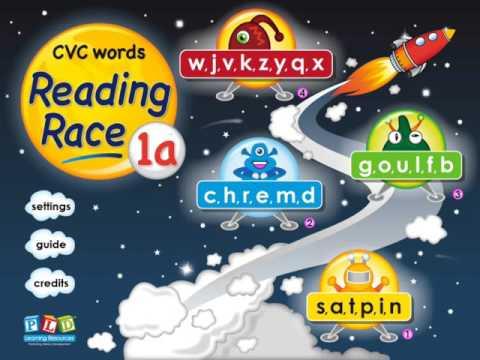 Reading race 1a - cvc words