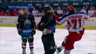 KHL double fight: Medvescak vs CSKA
