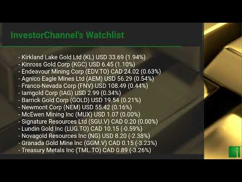 InvestorChannel's Gold Watchlist Update for Thursday, Marc ... Thumbnail