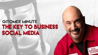 Gitomer Minute: The Key to Business Social Media