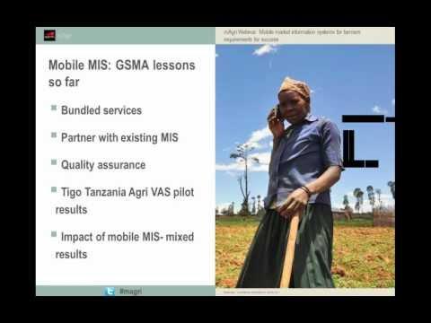 Webinar: Sistemas de información para el mercado móvil para los agricultores: requisitos para el éxito.