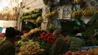preview picture of video 'Morocco Essaouira - Walking through Central Market'